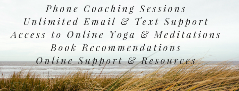 Weekly Phone SessionsUnlimited Email & Text SupportFree Access to Online Yoga and Mindfulness Meditation TrainingEvaluation and Assessment of current eating and body concerns